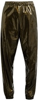 ASTRID ANDERSEN Contrast-stripe high-shine track pants