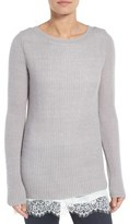 Hinge Women's Layered Look Tunic Sweater