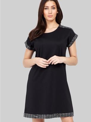 M&Co Izabel sequin trim shift dress