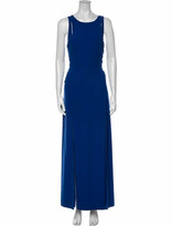 Thumbnail for your product : Halston Crew Neck Long Dress Blue