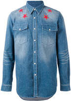 Givenchy denim star embroidered shirt