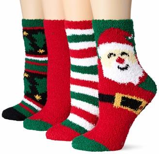 Amazon Essentials Women's 4-Pack Fuzzy Socks