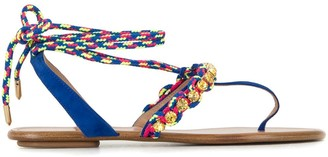 Aquazzura Braided Strap Sandals