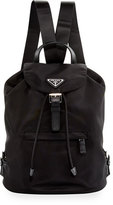Prada Vela Medium Backpack, Black (Nero)