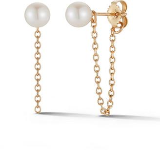 Mizuki Sea of Beauty 14k Gold Pearl-Stud Short Chain Earrings