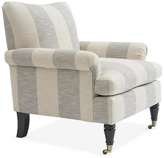 Kim Salmela Paige Club Chair - Ivory/Gray Crypton