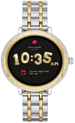 Kate Spade Women's Scallop Two-Tone Touchscreen Bracelet Smart Watch, 41mm