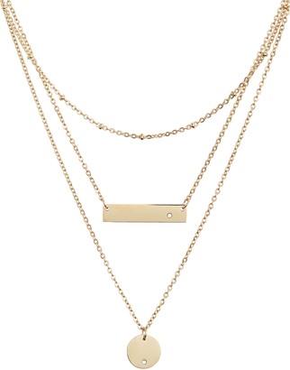 Knotty Multistrand Pendant Necklace