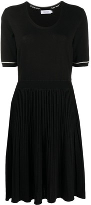 Calvin Klein Flared Knitted Dress