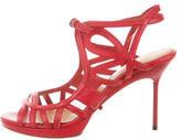 Lanvin Leather Mulitstrap Sandals