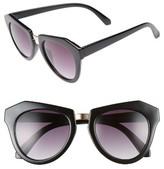 BP Women's 50Mm Round Sunglasses - Black Gold