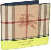 Burberry Haymarket Check Bifold Wallet, Yellow, One Size