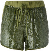 P.A.R.O.S.H. sequin embellished shorts - women - Viscose/PVC - M