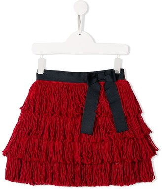 Stella Jean Kids Textured Ruffle Skirt