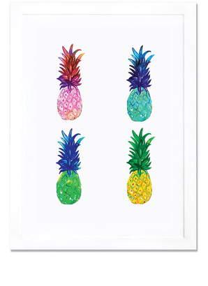 iCanvas Pineapple Giclee Print Framed Canvas Art