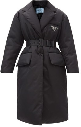 Prada Single-breasted Padded Recycled-nylon Coat - Black