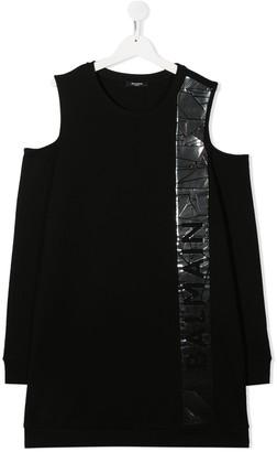 Balmain Kids TEEN cold-shoulder dress