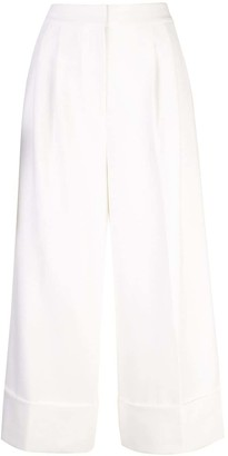 Tibi Anson cuffed tuxedo trousers