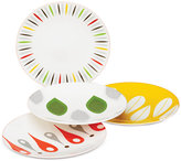 Dansk The Burbs Collection Melamine 4-Pc. Sunflower & Grass Party Plates Set