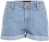 River Island Girls light blue denim shorts