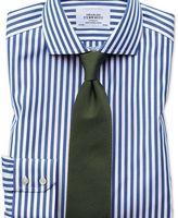 Charles Tyrwhitt Slim fit cutaway non-iron Bengal stripe blue shirt