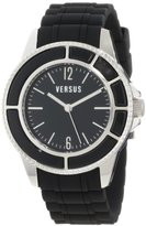 Versace Versus Women's Quartz Watch with Black Dial Analogue Display and Black Pu Strap AL13SBQ809 A009