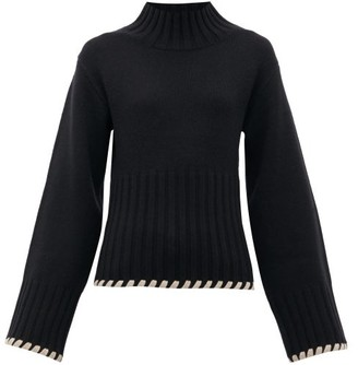 KHAITE Colette High-neck Cashmere Sweater - Black