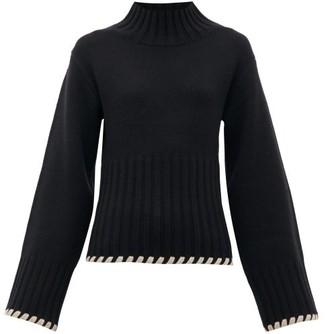 KHAITE Colette High-neck Cashmere Sweater - Womens - Black