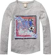Scotch R'Belle Girl's Tee with Printed Woven Patch T-Shirt,104 (Herstellergröße: 4)