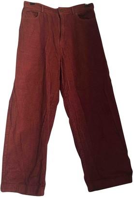 Polder Pink Velvet Trousers for Women