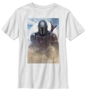 Star Wars Big Boys Mandalorian Warrior Poster Short Sleeve T-Shirt