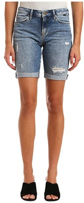Mavi Jeans Alexis Mid-Rise Boyfriend Shorts in Used Ripped/Fringe (Used Ripped/Fringe) Women's Shorts