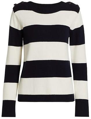 Max Mara Pelota Striped Wool & Cashmere Sweater