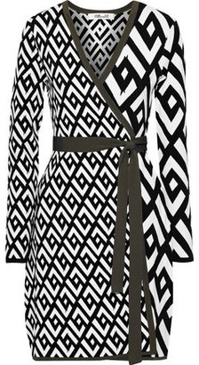 Diane von Furstenberg Everly Jacquard-knit Mini Wrap Dress