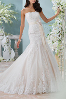 David Tutera for Mon Cheri Strapless Lace Bridal Dress