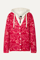 Moncler Genius - 3 Hooded Wool-blend Fleece-jacquard And Quilted Shell Cardigan - Red