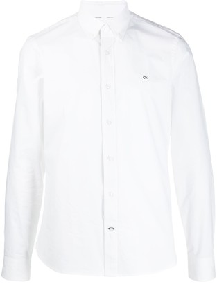 Calvin Klein Embroidered Logo Button-Down Shirt