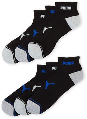 Puma 6-Pack Cushioned Quarter Crew Socks