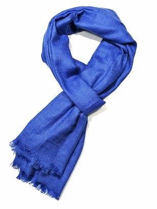 Shanlin Unisex Cotton Linen Scarves for Men and Women - blue - Large