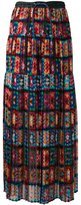 Sacai crochet lace pleated skirt - women - Polyester/Rayon/Cupro/Cotton - 2
