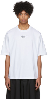 Kenzo White Oversize Sport Logo T-Shirt