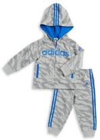 adidas Baby Boy's and Little Boy's Two-Piece Tiger Print Cotton Jacket and Pants Set