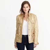 Ralph Lauren Metallic Leather Cargo Jacket