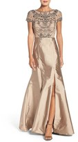 Adrianna Papell Women's Embellished Mesh & Taffeta Ballgown