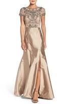 Adrianna Papell Women's Embellished Mesh & Taffeta Ballgown
