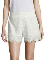 Nightcap Clothing Scalloped Cotton Eyelet Shorts
