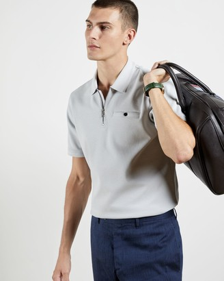 Ted Baker Short Sleeved Zip Polo Shirt