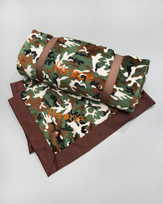 Swankie Blankie Camouflage Toddler Blanket, Monogram