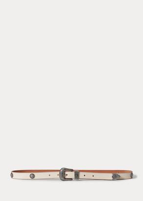 Ralph Lauren Western Calfskin Belt