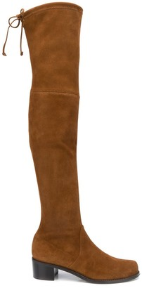 Stuart Weitzman Lace Detail Over-The-Knee Boots